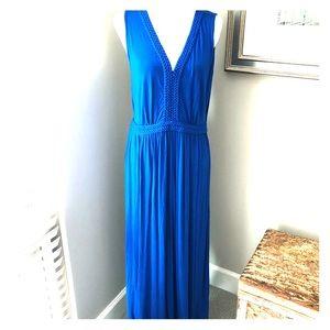 Neiman Marcus Royal Blue Braided Dress